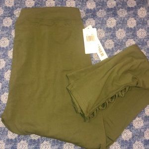 Olive army green leggings New